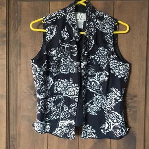 Collared button up vest